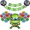 Зеленого цвета с принтом «Черепашки-ниндзя» латексные шары Hero воздушные шары в форме животных Happy ко дню рождения, баннер Baby Shower вечерние де...