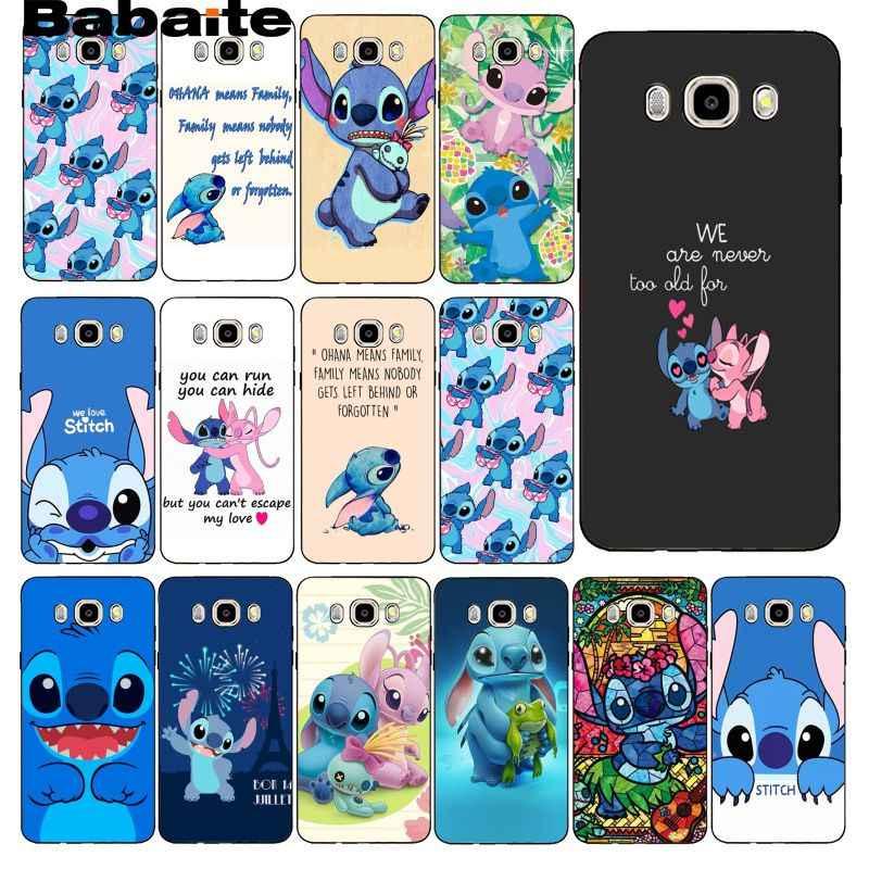 Bbabite bonito dos desenhos animados lilo & stitch caso de telefone capa traseira para samsung galaxy j7 j6 j8 j4 j4plus j7 duo j7neo j2 j7 prime
