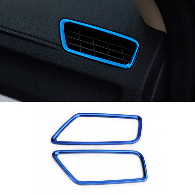 Vtear car air outlet cover decoration frame accessory stainless steel trim For Geely Atlas Emgrand NL-3 Proton 2018 2019 styling