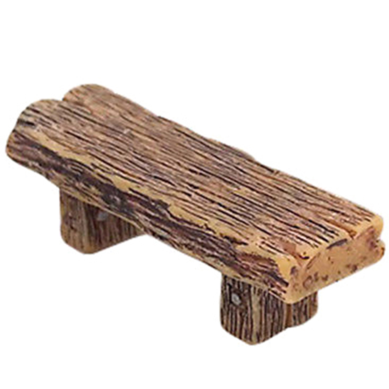 Garden Long Wood Bench Miniature Doll House Decoration Girl Toy Figurine Fairy DIY Furniture Toys Accessories