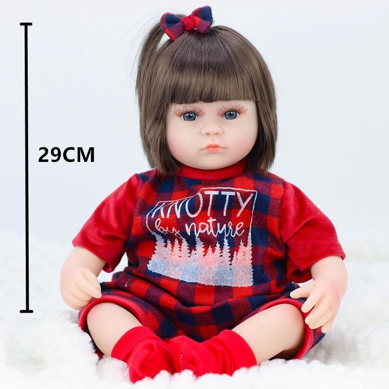 42CM Baby Reborn Dolls Toys For Girls Vinyl Sleeping Accompany Doll Reborn Beautiful Birthday Present Toys