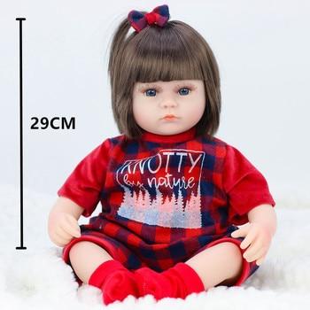 42CM Baby Reborn Dolls Toys For Girls Vinyl Sleeping Accompany Doll Reborn Beautiful Birthday Present