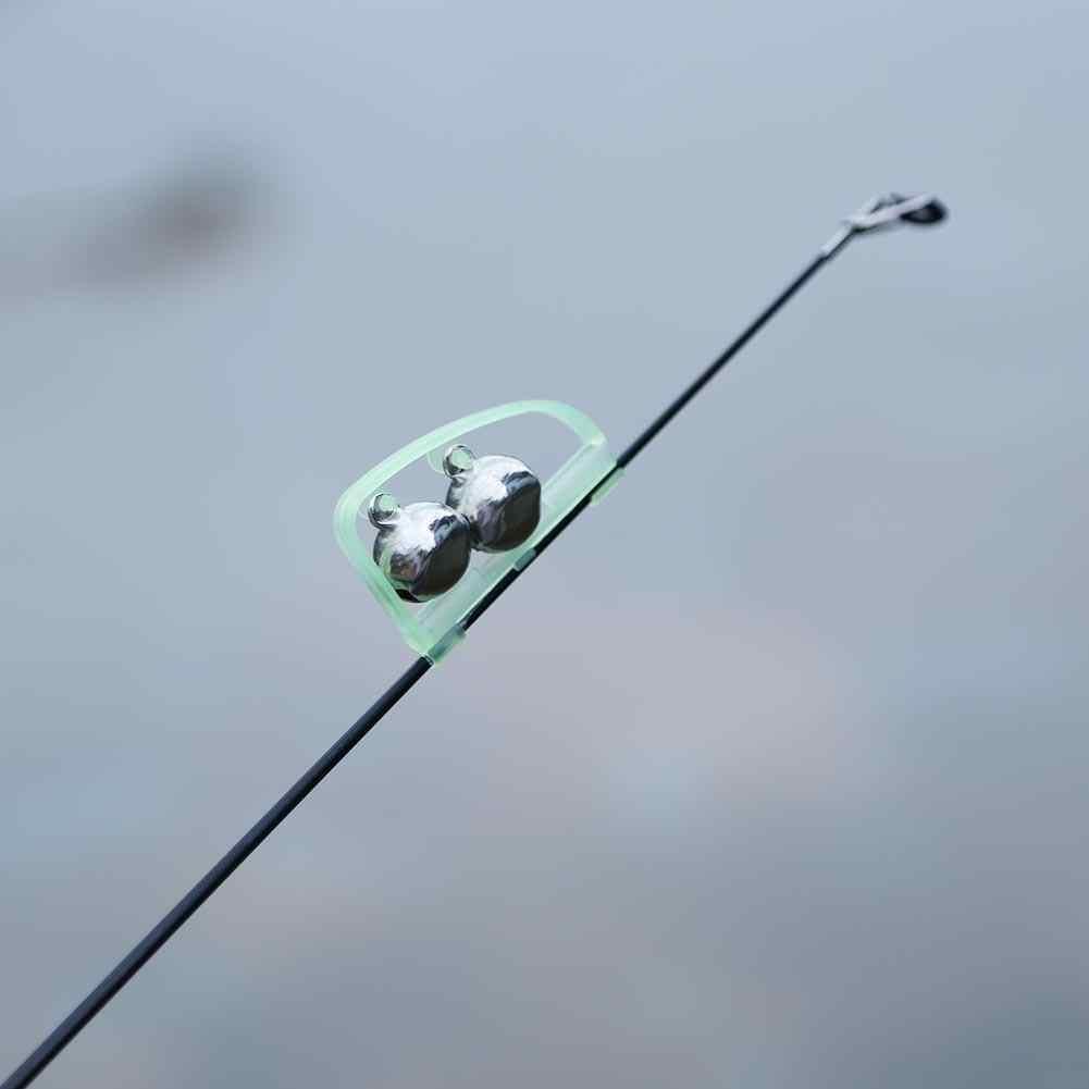 กันน้ำเรืองแสงตกปลา Rod POLE คลิปเคล็ดลับ FLOAT TWIN Bell ALARM Alert แหวน Night สแตนเลสกล่องตกปลาอุปกรณ์เสริม