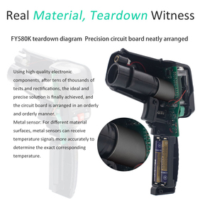 Image 5 - Infrared Thermometer MAXRIENY BTM11 Non Contact IR Digital Pyrometer Temperature Meter Gun Point  50~580 Degree + Alarm + Color
