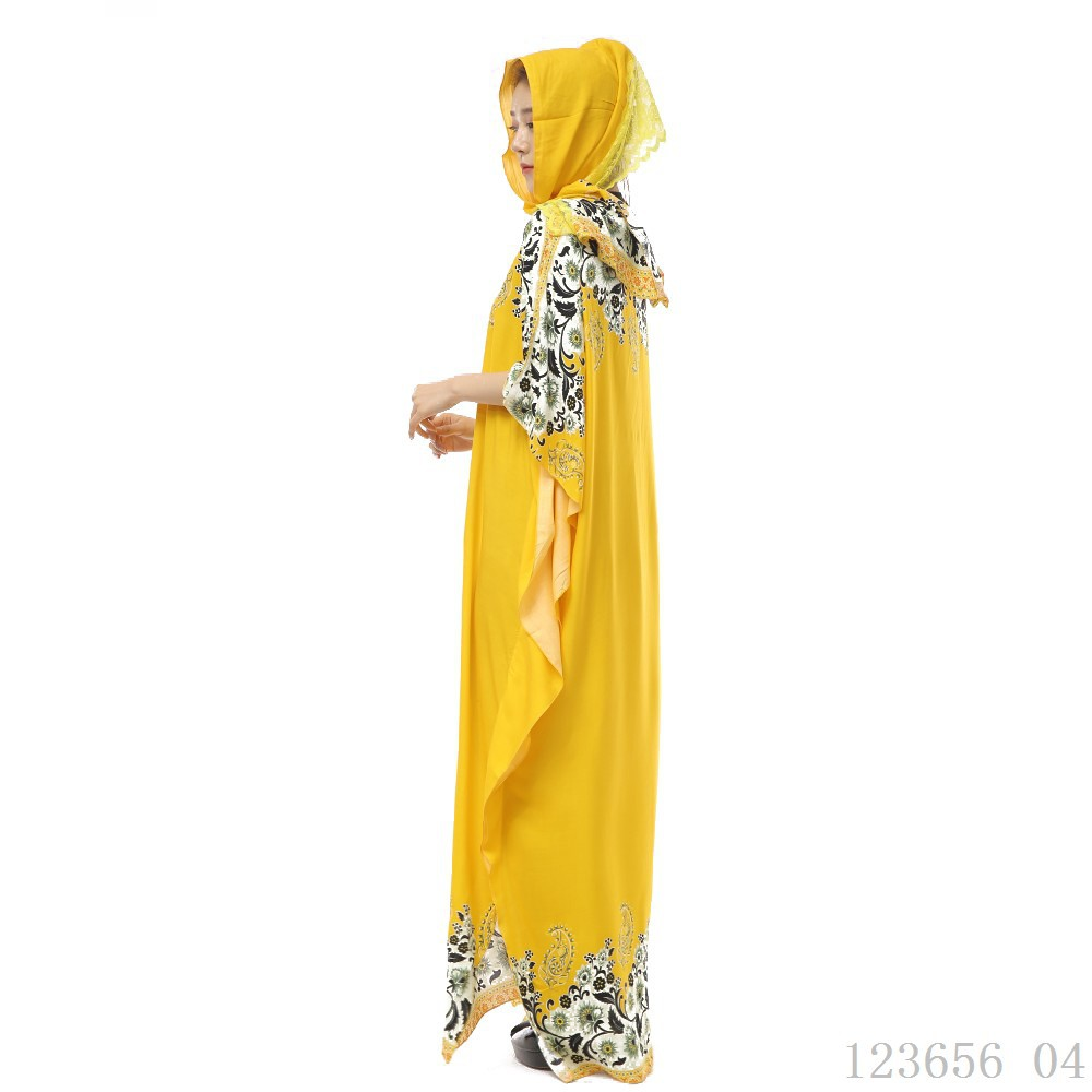 Islamic clothing summer cool crystal cotton muslim prayer dress arab muslim long hijab +abaya dubai dress
