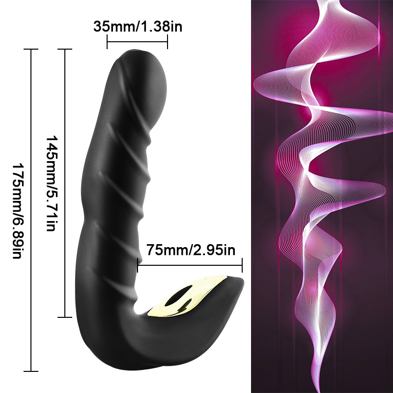 Vibrating Prostate Massager Men Anal Plug Waterproof with Powerful Motors 20 Stimulation Patterns Butt Anus Silicone Sex Toys