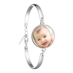 Pulseira artesanal de personalidade, foto, bebê, criança, papai, irmã, irmã, avô, família, retrato, bracelete, personalizado