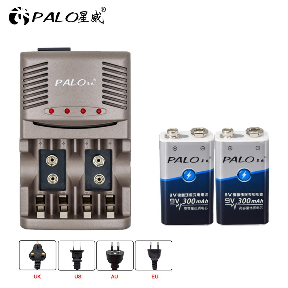 PALO usine vente directe batterie de puissance 6F22 006p 9V Ni-MH 300mAh batterie rechargeable pour instruments microphone