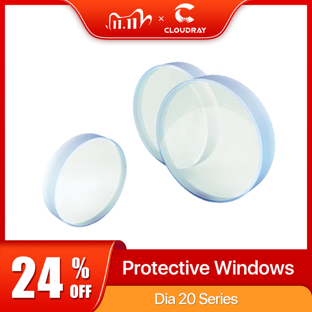 Cloudray Laser Protective Windows D20   D29 Series Quartz Fused Silica for Fiber Laser 1064nm Precitec Raytools WSX
