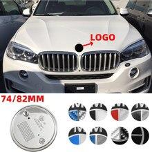74MM/82MM dla BMW Logo E92 X5 E70 E90 F30 E93 F31 X1 X3 F15 X6 Z4 Z3 E85 E89 F22 F10 Car Styling przedni naklejka z Logo na bagażnik odznaka