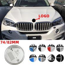 74MM/82MM para BMW Logo E92 X5 E70 E90 F30 E93 F31 X1 X3 F15 X6 Z4 Z3 E85 E89 F22 F10 Estilo Do Carro da Frente Traseiro Trunk Emblema Do Emblema