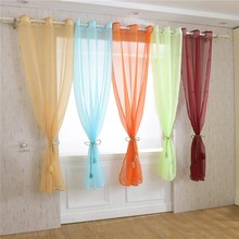 Hot Voile Window Curtain Drape Panel Sheer Tulle For Home Decor Living Room Bedroom Kitchen Restaurant Valance Party Curtain D40 window door curtain valance drape panel sheer tulle window screening tulle curtain for living room valance tulle sheer curtain