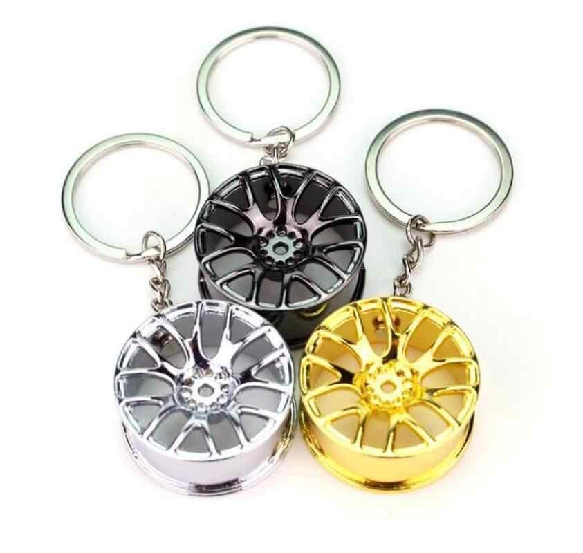 الحرة الإبداعية سيارة عجلة ريم توربو قلادة حديدية سلاسل المفاتيح هدية للرجال كيرينغ معلقة الديكور سيارة مفتاح ميدالية مفاتيح ذات حلقة حلية