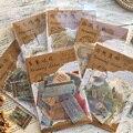 40 шт./лот, винтажная клейкая бумага для билета, декоративная наклейка для дневника, скрапбукинга, наклейки, Канцтовары для школы