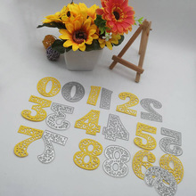 Creative number Metal Cutting Dies Stencil DIY Scrapbooking Embossing Decorative Photo Album Knife Mould 10.3*19.8cm