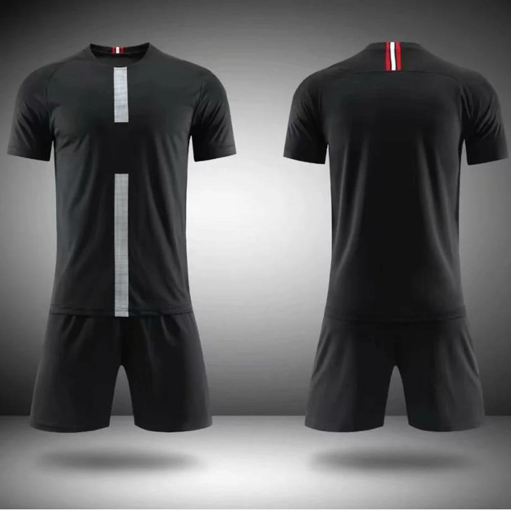 Blank Football Jerseys Men Tracksuit Soccer Uniforms Kit Sportswear Training Set Tracksuit Customize Soccer Jersey Sports Suit