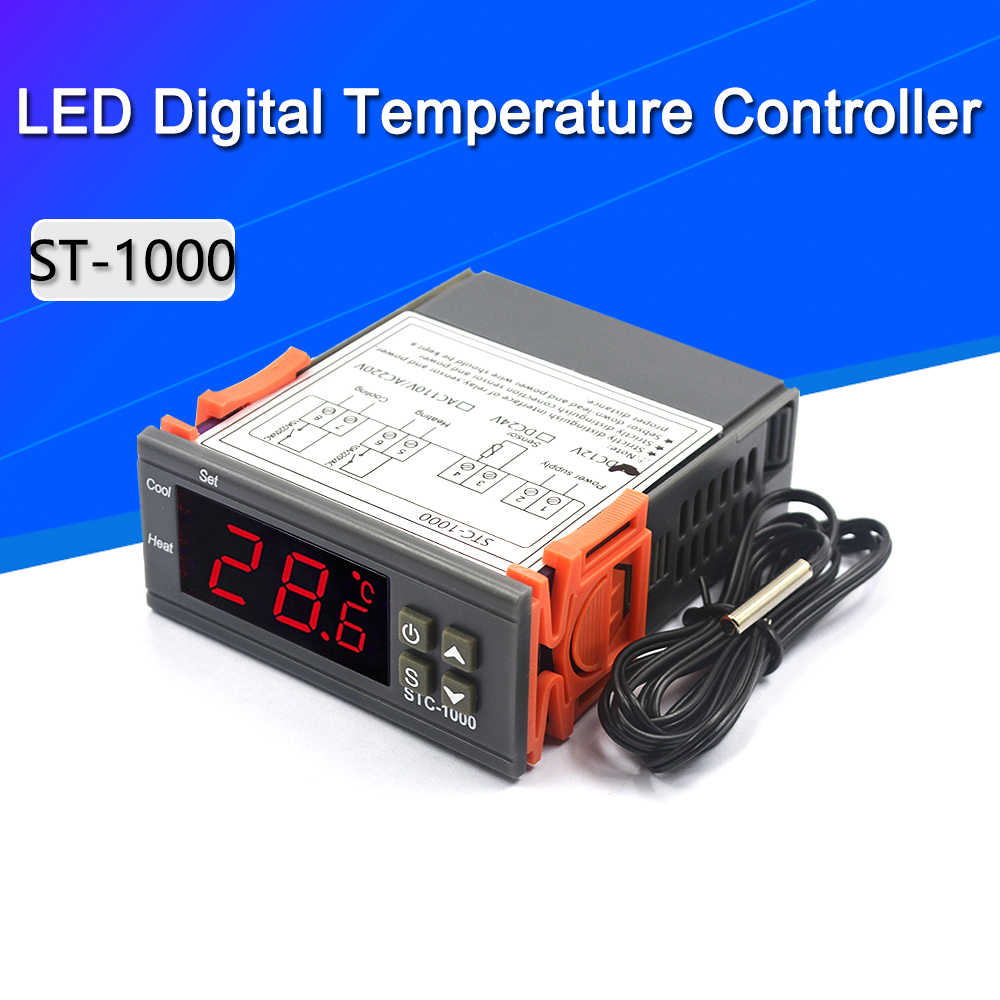 Stc-1000 AC 10a Digital LED Temperaturregler Thermostat DC 12 V Sensor