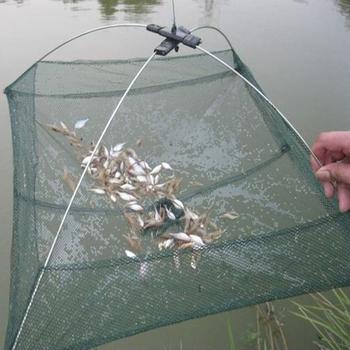 Klatka dla krewetek sieć rybacka nylonowa składana pułapka na ryby obsada netto obsada sieć rybacka do wędkowania na zewnątrz przenośne akcesoria tanie i dobre opinie JOCESTYLE CN (pochodzenie) Żyłka Duża siatka Fishing Net Pojedyncze Sieć ręczna Foldable three layer fishing net Nylon + metal