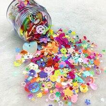10g Mix Sequin for Craft Glitter Star Heart Flower Unicorn Mermaid Rabbit Shell Sequins Paillettes DIY Manicure Nail Art Decor