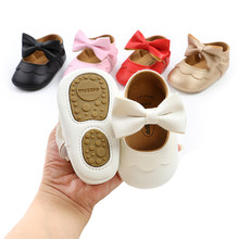 Toddler Anti-Slip Rubber Baby Girls Sandals Clogs Cute Flats With Bowknot Newborn Baby Girls Princess Dress Shoes