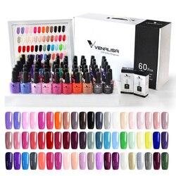 2020 Nieuwe 60 Mode Kleur Venalisa Gel Polish Vernish Kleur Gel Polish Voor Nail Art Design Hele Set Nail Gel leerling Kit
