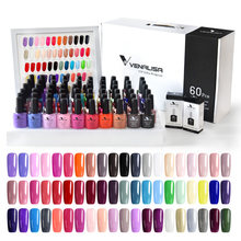 2020 New 60 Fashion Warna Venalisa Gel Polandia Pernis Warna Gel Polish untuk Desain Seni Kuku Seluruh Set Cat Kuku peserta Kit(China)