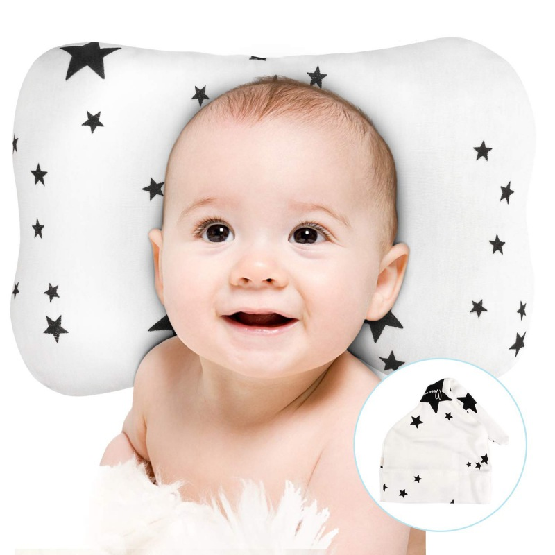 Anti-deflection Head Baby Nursing Pillow For Newborn Breathable 3D Head Protective Mat For Baby Sleeping 0-2T