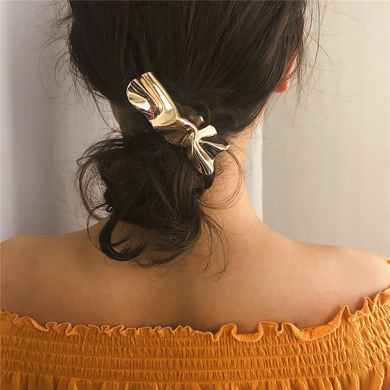 Exaggerated Simple Metal Geometric Hair Accessories Female Irregular Mirror Rectangular Temperament Hair Clip For Girl Headwe