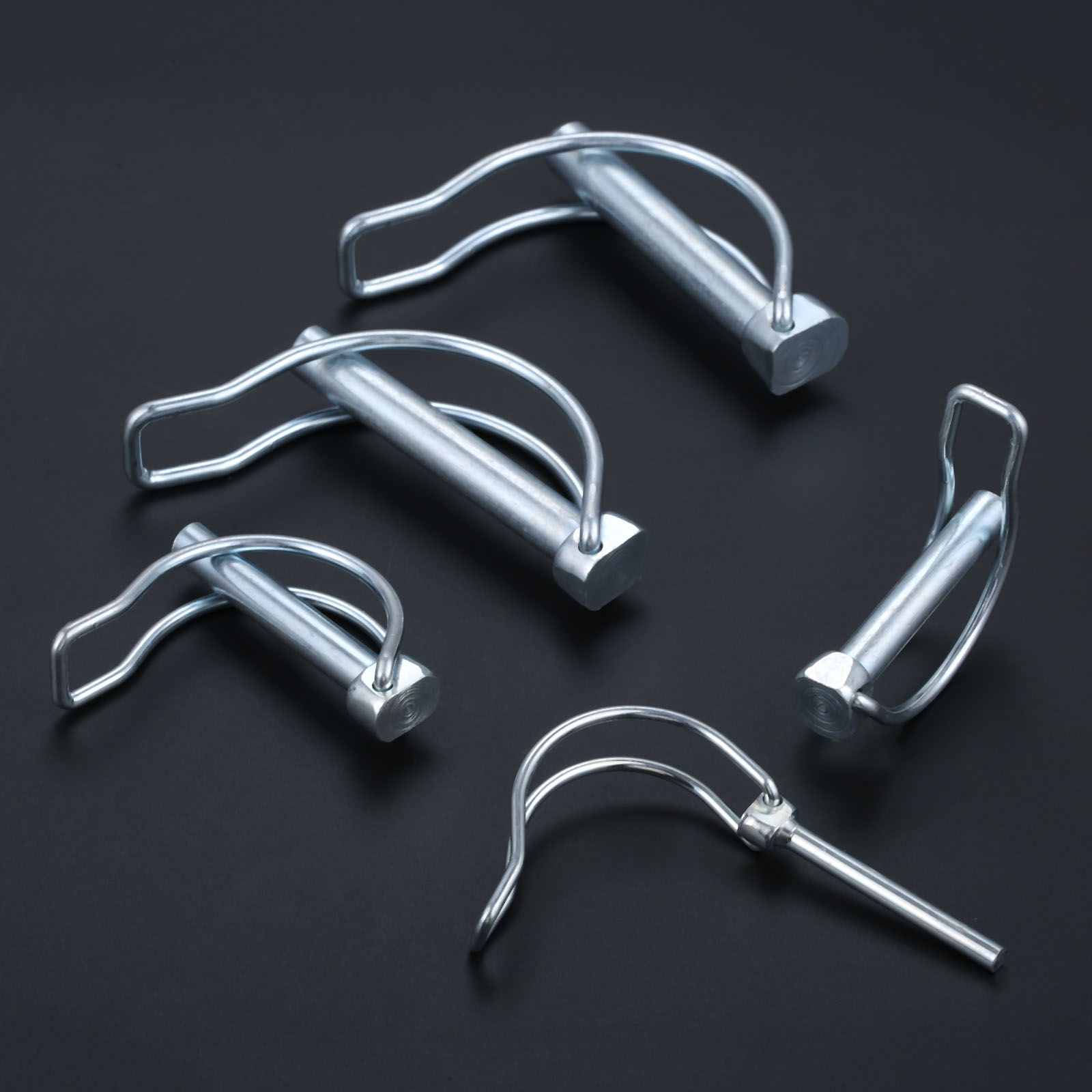 5/4/2pcs Quick Lock Release Pins Trailer Towing Coupler Safety Pin Bicycle Stroller Cargo Boat Hitch Hook D-Clip M4.5/M8/M10/M11