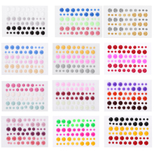 Pretty Mixed Color Sugar Sprinkles Self-adhesive Enamel Dots Resin Sticker For DIY Scrapbooking Photo Album Cards Crafts Decor