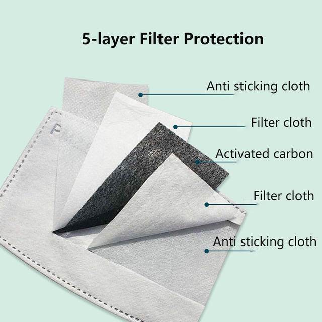 Motorcycle Face Mask PM2.5 Face Masks Anti Dust Windproof Anti Bacteria Flu Mask Winter Face Mask 4