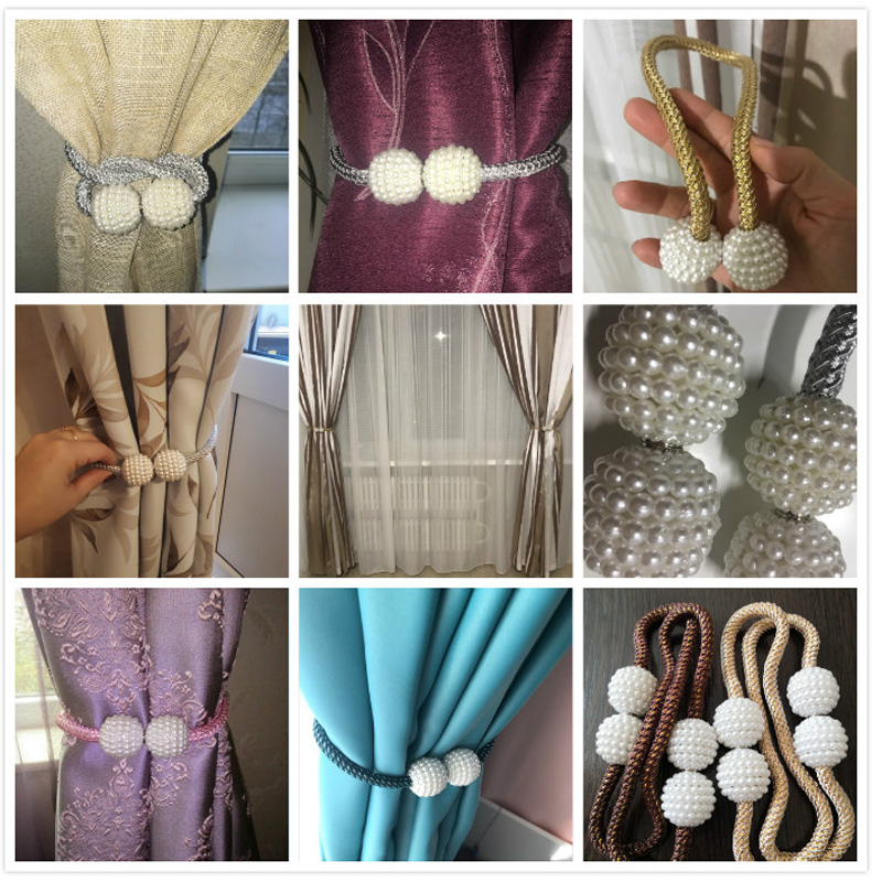 pearl curtains clamps magnet hook holder for curtain tiebacks buckle clips home magnets for curtains rod accessories decoration