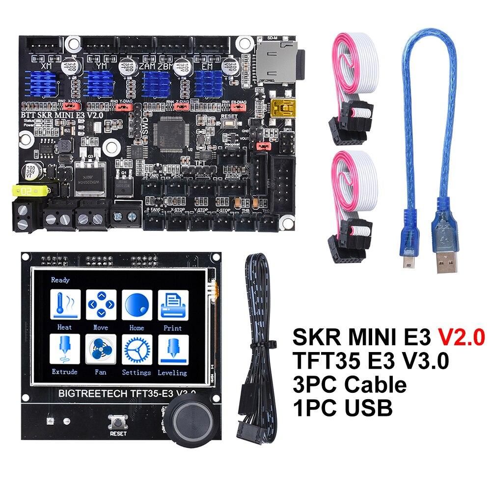 BIGTREETECH SKR מיני E3 V2.0 + TFT35-E3 V3.0 מגע מסך בקרת לוח TMC2209 UART 3D מדפסת חלקי Creality Ender-3 CR10