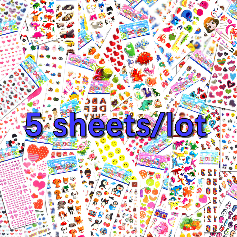 5 Sheets Lot Scrapbooking Bubble Luggage Laptop Stickers Cute Gifts Toys Teacher Reward Kids Children Factory Direct Sales M5