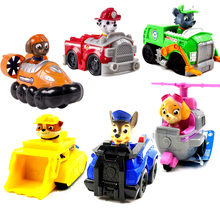 Paw Patrol Dog Genuine Puppy Patrol Toys Car Patrulla Canina Ryder Anime Action Figures 1:55 Diecast Model Car Toy Birthday Gift стоимость