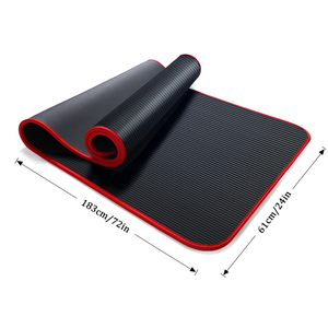 Image 3 - Jusenda esterilla de Yoga NBR, 10MM, 183x61cm, almohadillas deportivas para Pilates, borde para alfombras, resistente a las roturas, mate con bolsa y correa