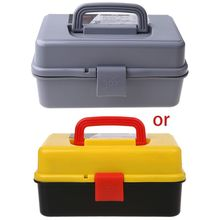 3 Layer Folding Tool Storage Box Portable Hardware Toolbox Multifunction Car Repair Container Case