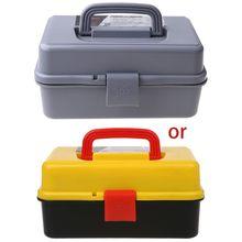 صندوق تخزين قابل للطي من 3 طبقات ، صندوق أدوات محمول ، متعدد الوظائف ، حاوية إصلاح السيارة