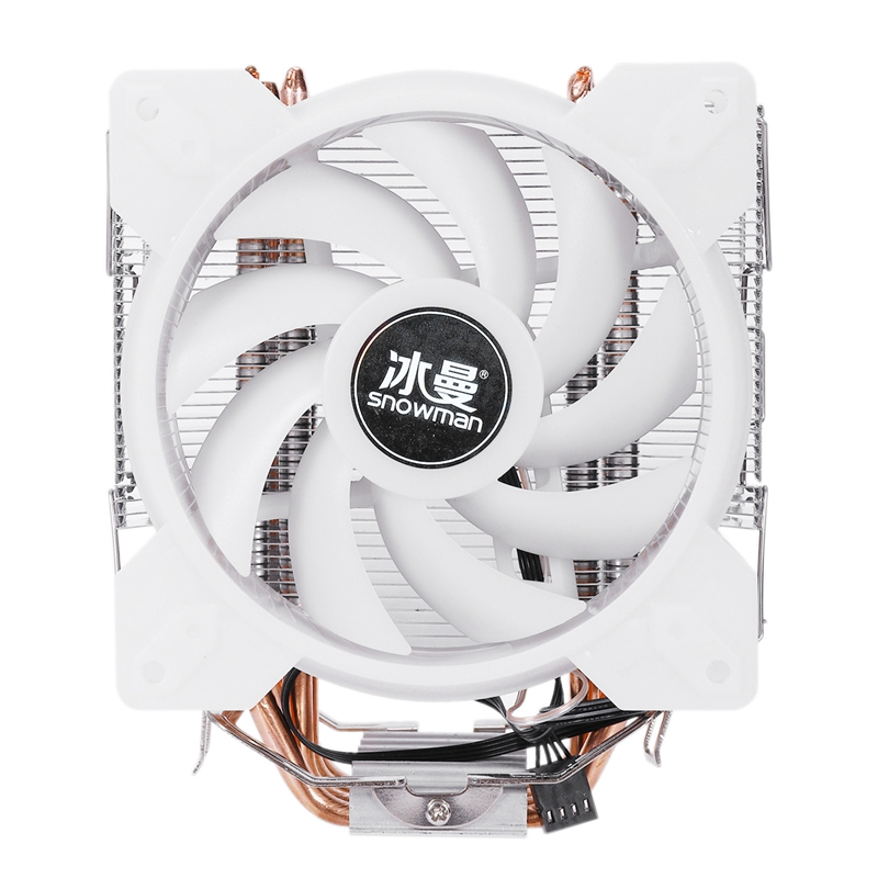 SNOWMAN Full Color LED CPU Fan Cooler Master 4 Direct Contact Heatpipes Freeze Tower Cooling System CPU Cooling Fan