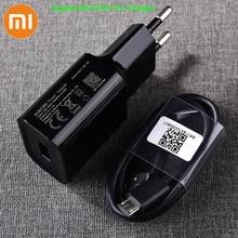 Original Xiaomi USB Charger 5V/2A EU Adapter Micro USB Data Cable For Mi 4 Redmi S2 4 4X 4A 5 5A 6 6A Note