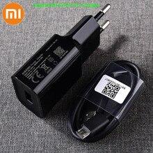 Оригинальное зарядное устройство Xiaomi с USB, 5 В/2 А, EU адаптер, Micro USB кабель передачи данных для Mi 4 Redmi S2 4 4X 4A 5 5A 6 6A Note