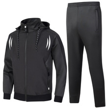 2020 football clothing basketball sports suit mens running set two-piece hooded jacket casual