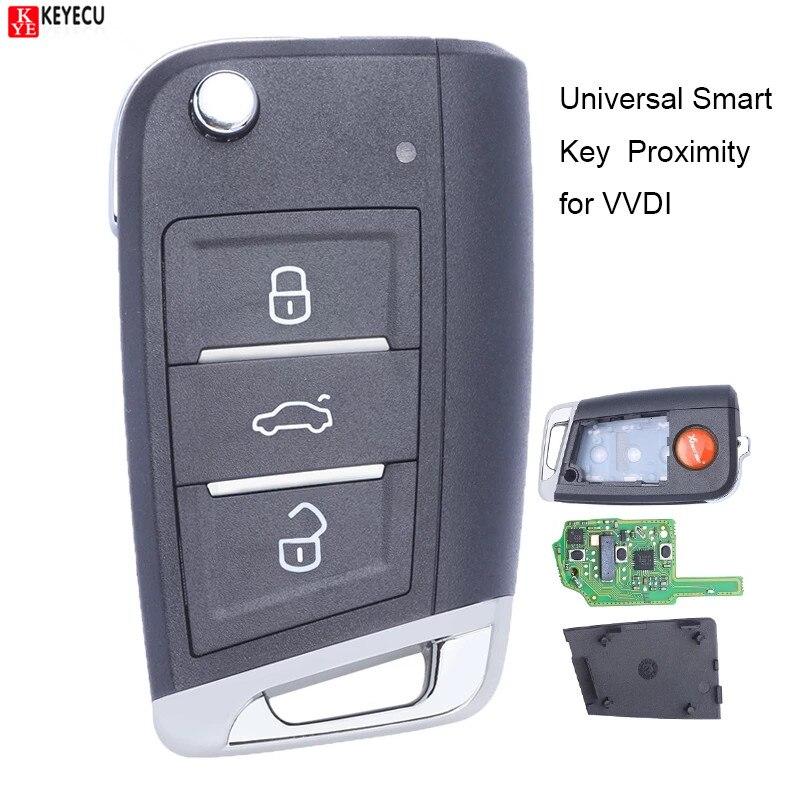 Универсальный смарт-ключ Xhorse с 3 кнопками приближения Smart MQB для VVDI Key Tool VVDI2 PN: XSMQB1EN