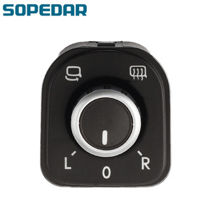 SOPEDAR Chrome Mirror Adjust Knob Switch For VW Volkswagen Jetta Golf mk5 mk6 Tiguan CC Passat B6 B7 5ND 5ND959565A 959 565A