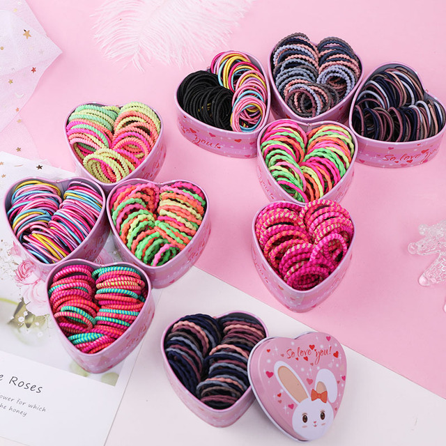 Girls Colorful Elastic Hair Bands for Ponytail.