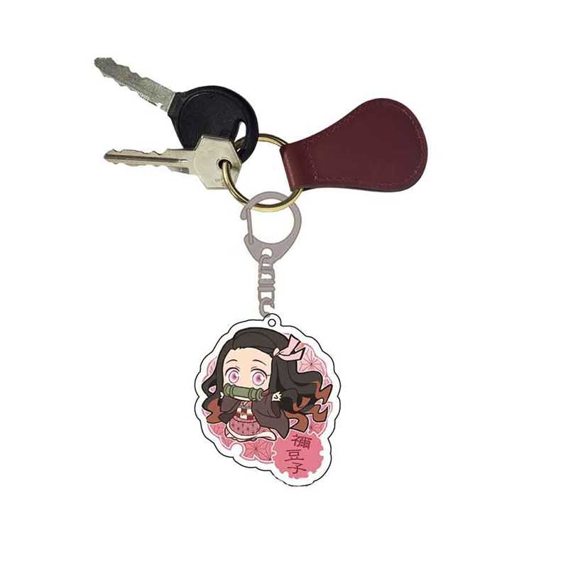 Anime Demon Slayer: Kimetsu ไม่มี Yaiba พวงกุญแจ Kamado Nezuko Kimono Kamado Tanjirou Kimono Badge พวงกุญแจแฟนเครื่องประดับของขวัญ