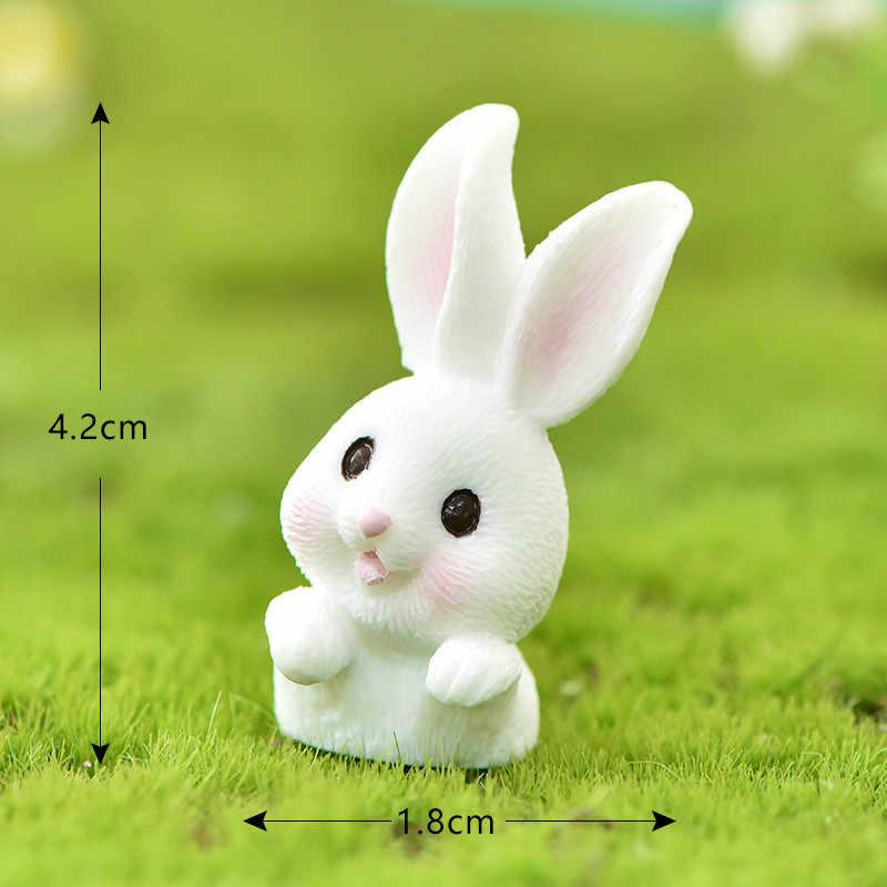 漫画のウサギのニンジンミニチュア妖精ガーデンアクセサリーマイクロ風景サボテン deocration 手作りクラフトギフトペンダント