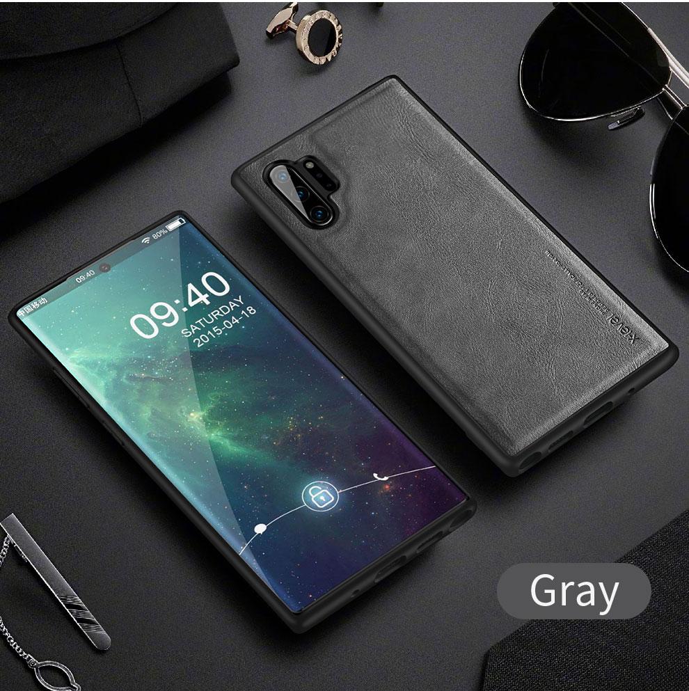 H8f48565cb04e433bbbe59f102cf0f935j X-Level Leather Case For Samsung Note 10 Plus Soft Silicone Edge Back Phone Cover For Samsung Galaxy Note 10 Case Note10 Plus