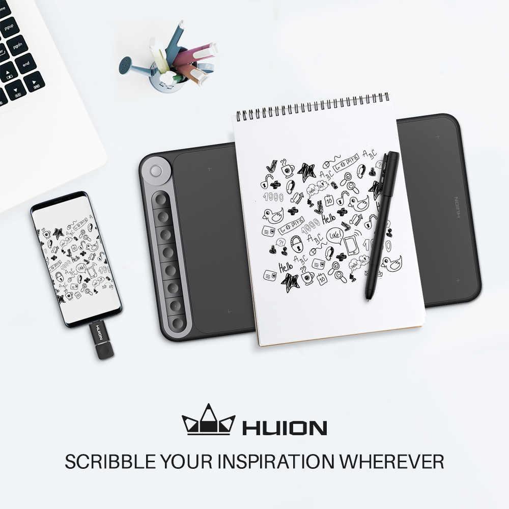 Huion scribo PW310デジタル中立ペン3リフィルバッテリーフリー8192レベルHS610/Q620M/kamvasプロ20/22(2019)