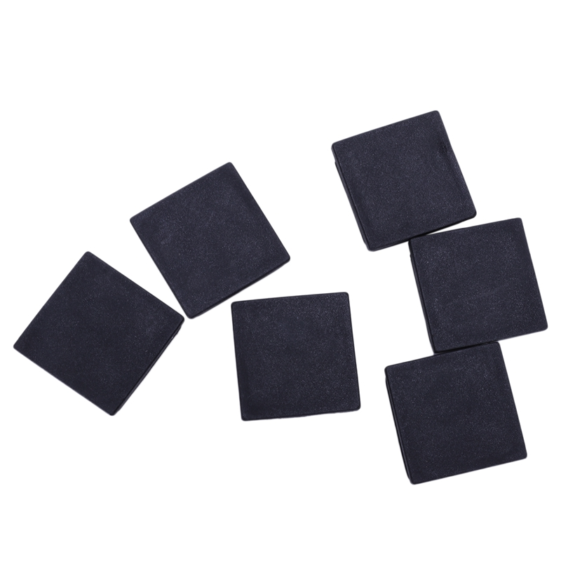 6 Pcs Black Closure End Caps Square Tubing Tube Foot Cover 40 X 40 Mm